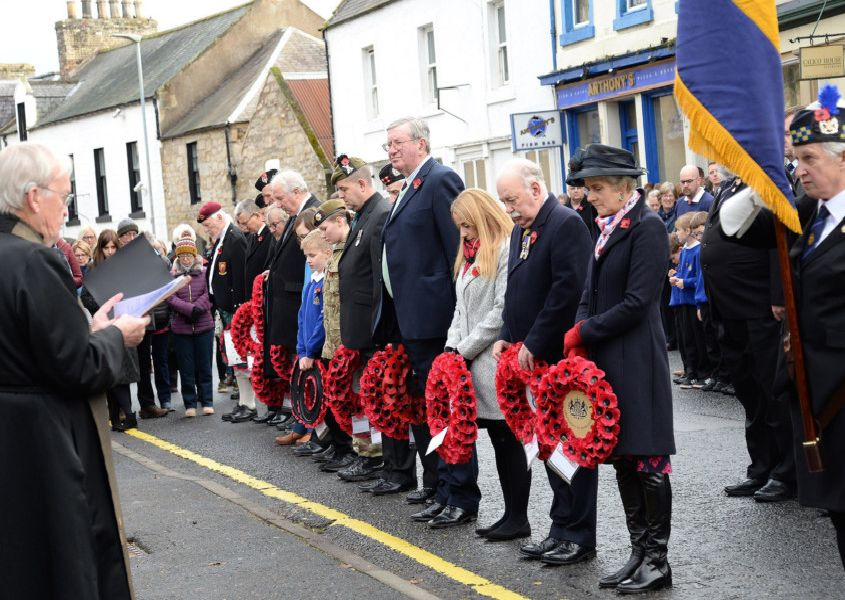 Remembrance Day service at Coldstream War Memorial