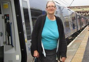 Claudia pictured at Carstairs Station.