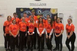 Pupils who took part in the fundraising challenge