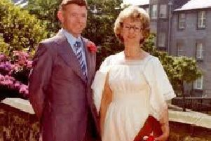 George Murdoch with wife Jessie, who died in 2004. Picture: Police Scotland