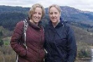 Identical twin sisters from Bathgate, Jennifer and Karen Heenan, raised �1,655 for the charity Beat SCAD by walking the 96 miles of the West Highland Way.