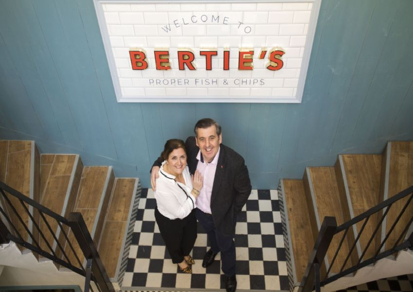 Owners Angela Crolla and Tony Crolla inside Bertie's Restaurant & Bar in Victoria Street.