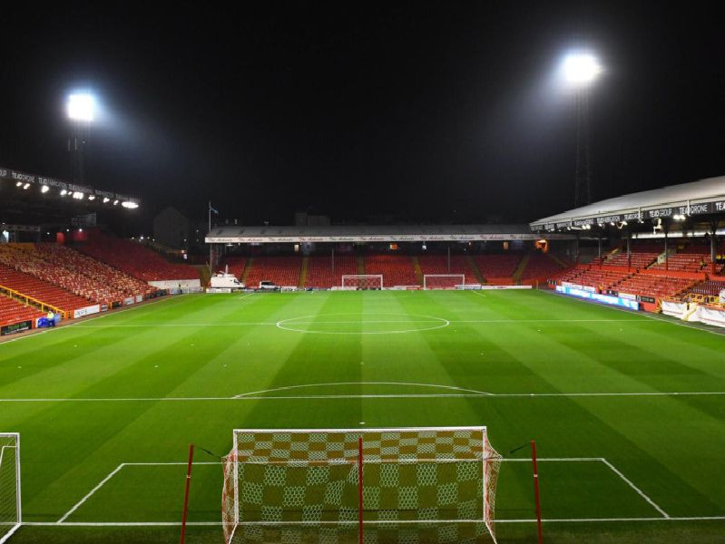 A general view of Pittodrie Stadium