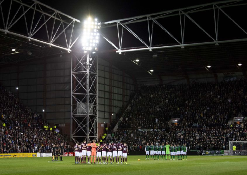 Hearts and Hibs. Picture: SNS/Ross Parker