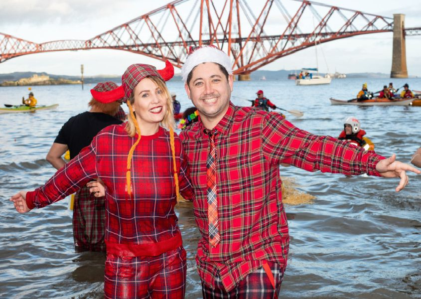 Many sported tartan for this year's Loony Dook, while raising money for their chosen charities. Pic: Ian Georgeson