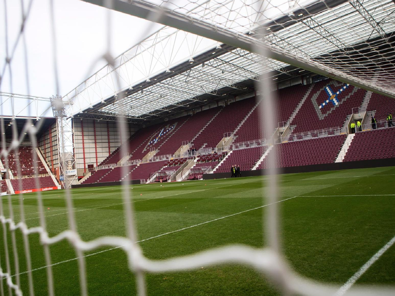 A general view of Tynecastle Park