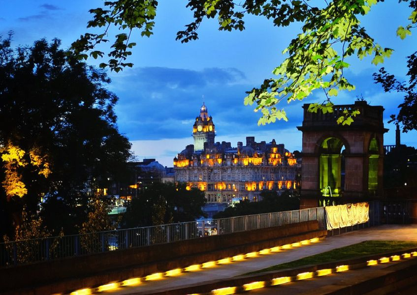 View of Edinburgh's Balmoral Hotel from The Mound. Picture: Jane Barlow