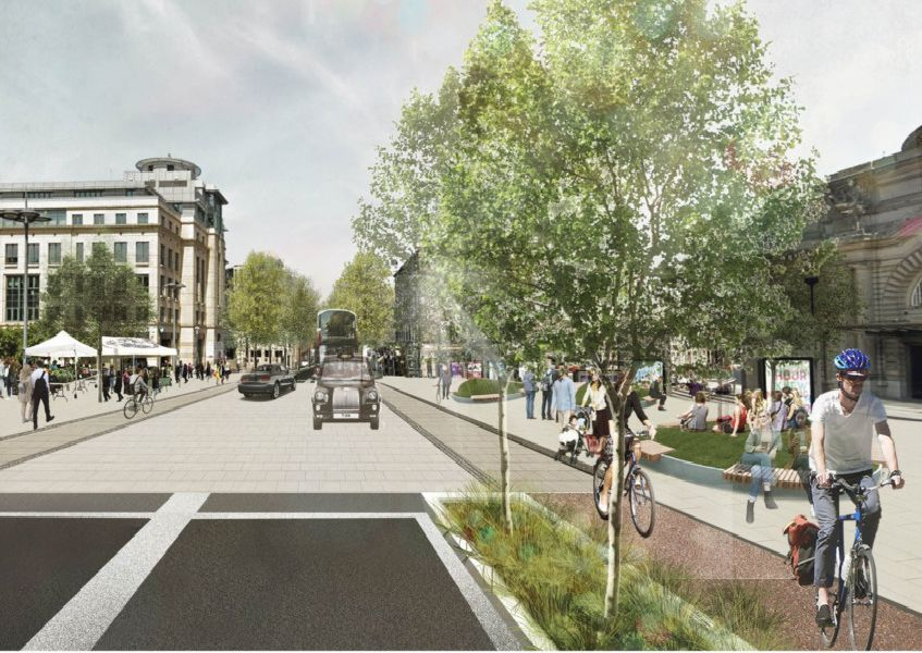 Lothian Road could be transformed as part of the plan to close Old Town streets to traffic once a month.