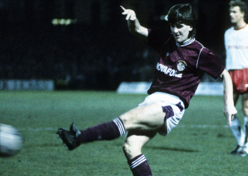 Tosh McKinlay in action during Hearts' 1-0 victory over Bayern Munich in February, 1989. Picture: SNS