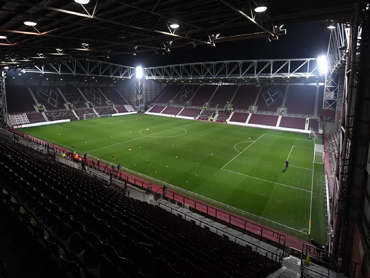 A general view of Tynecastle ahead of a night game