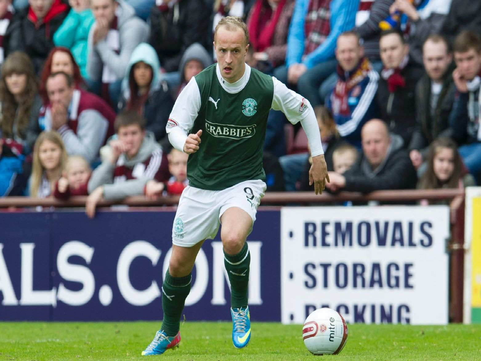 Leigh Griffiths has scored eight goals against Hearts