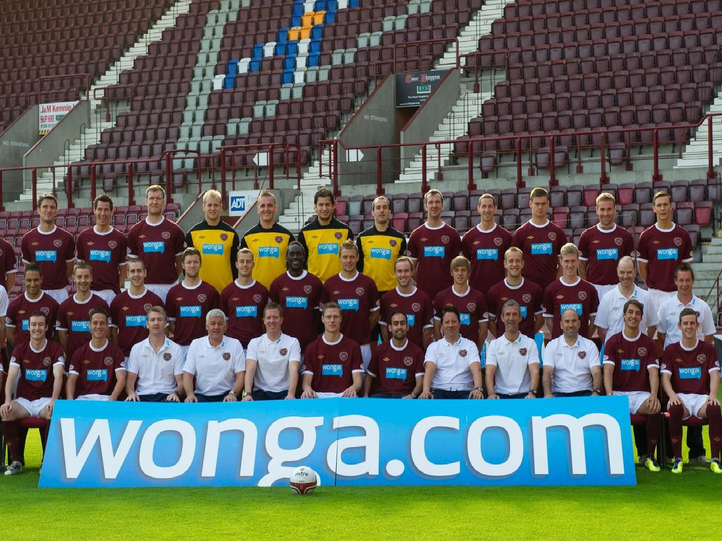 The Hearts first-team squad pictured at the start of the 2011/12 season
