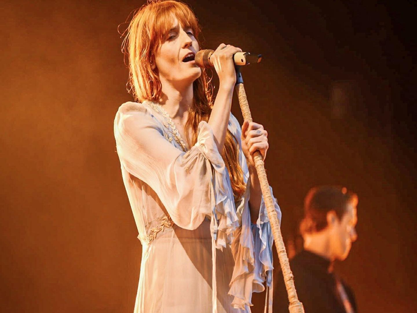 Florence and the Machine performing in Edinburgh