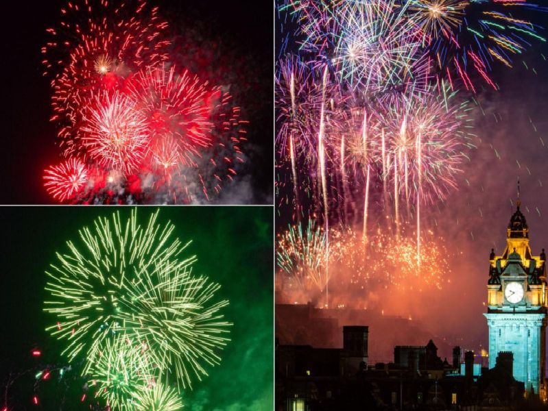 More than 400,000 fireworks were launched from Edinburgh Castle to mark the end of the International Festival and the summer festival season.