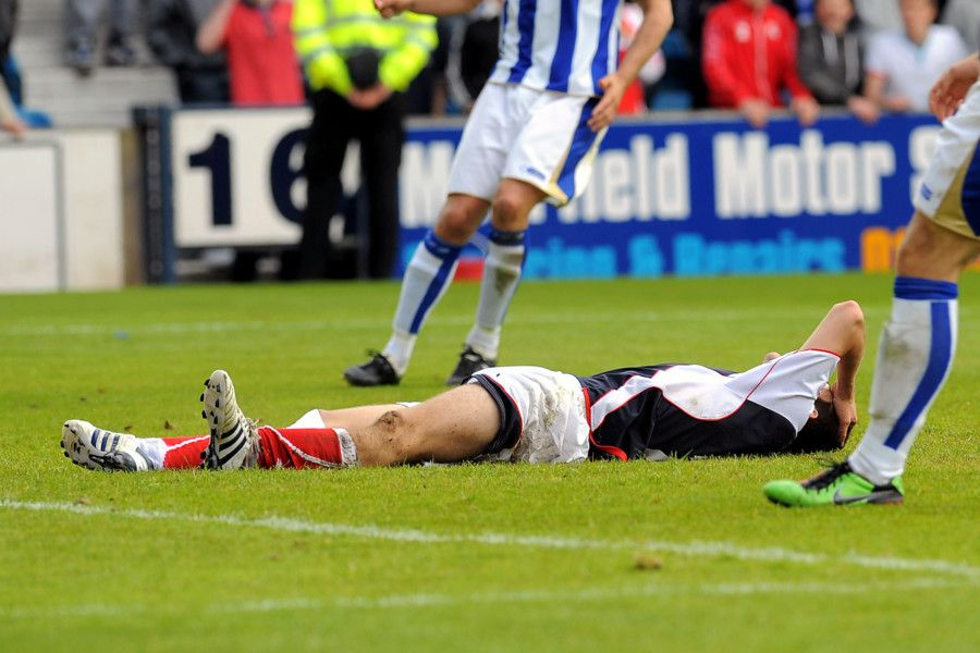 Ryan Flynn missed a late opportunity that would have been enough to keep Falkirk up