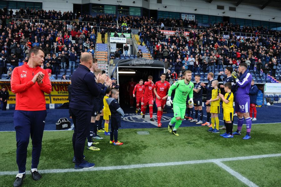 Falkirk provided a guard of honour for league champions Ross County - and were relegated two hours later.