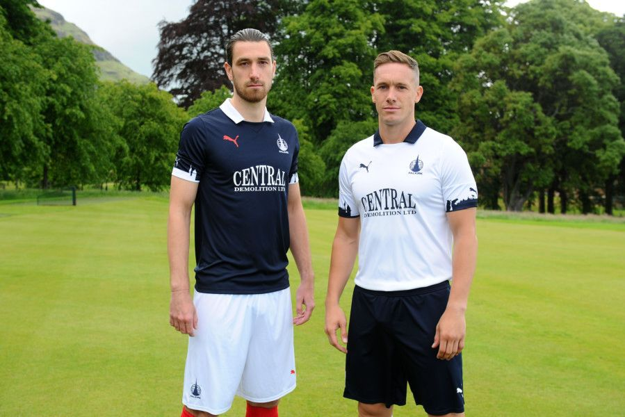 Gregor Buchanan and Michael Tidser modelled the new kits.