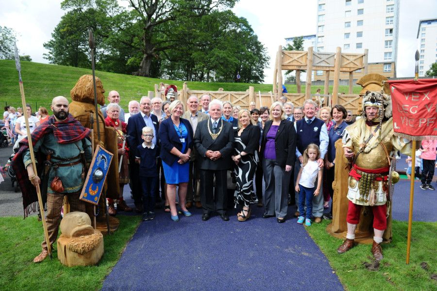 New Roman themed playpark at Callendar Park, Falkirk. Picture by Michael Gillen.