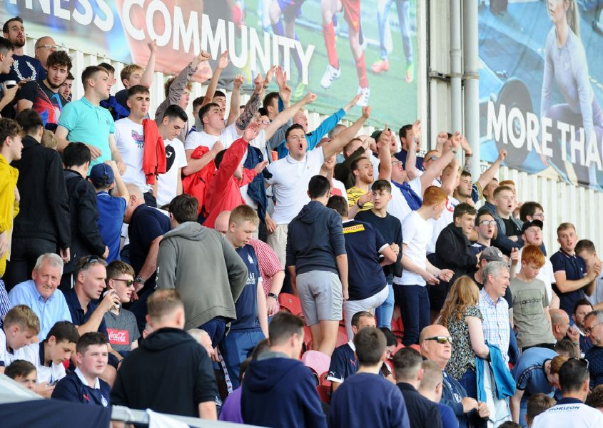 Falkirk fans turn out in their numbers for the Barns' meeting with newly promoted Clyde