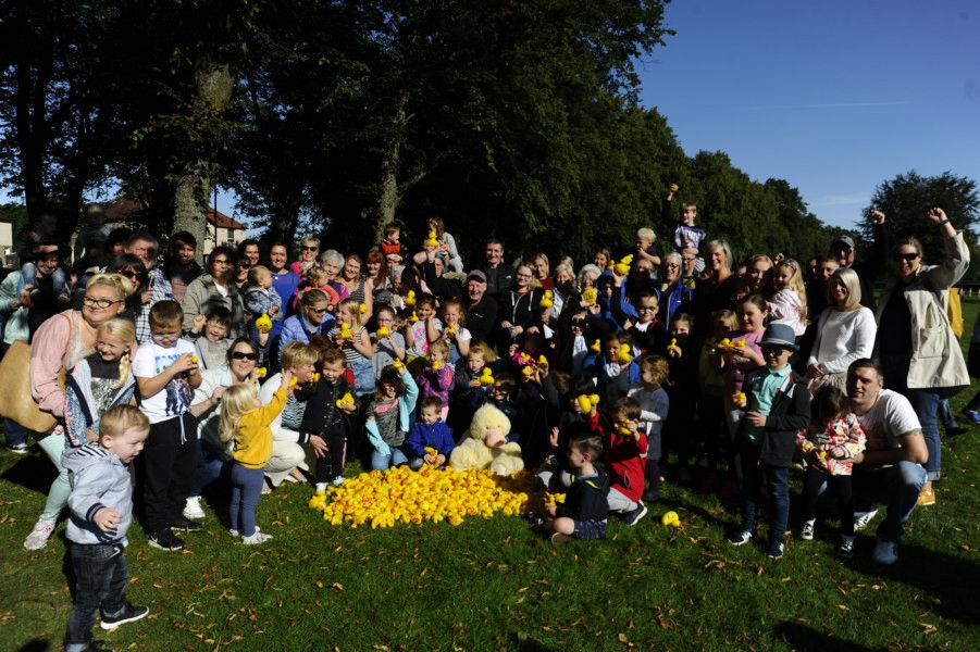 Duck Race in Zetland Park, Grangemouth, in aid of the Rose Garden Regeneration Group. Picture by Alan Murray.
