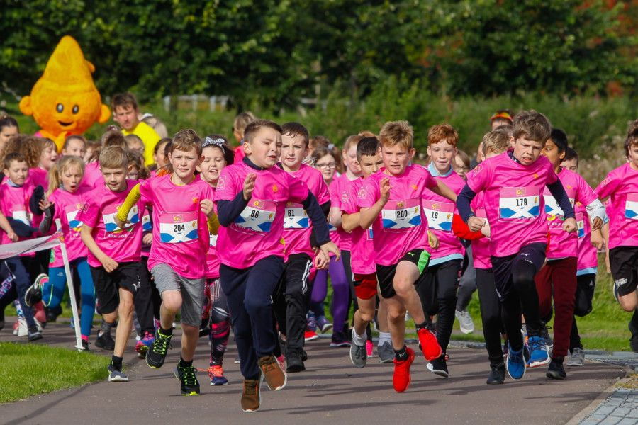 Go Run For Fun event at Helix Park, Falkirk 16/09/19
