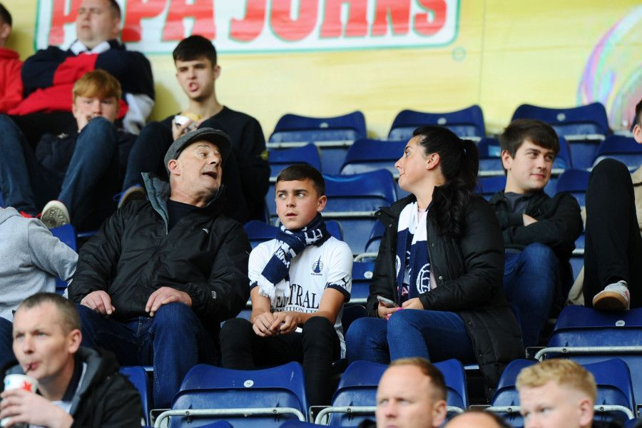 Falkirk fans watch as the Bairns draw 0-0