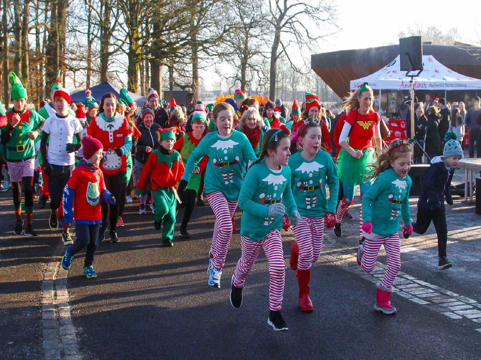 Family Elf Fun Run in aid of Maggie's Forth Valley on Sunday, December 1. Picture by Scott Louden.