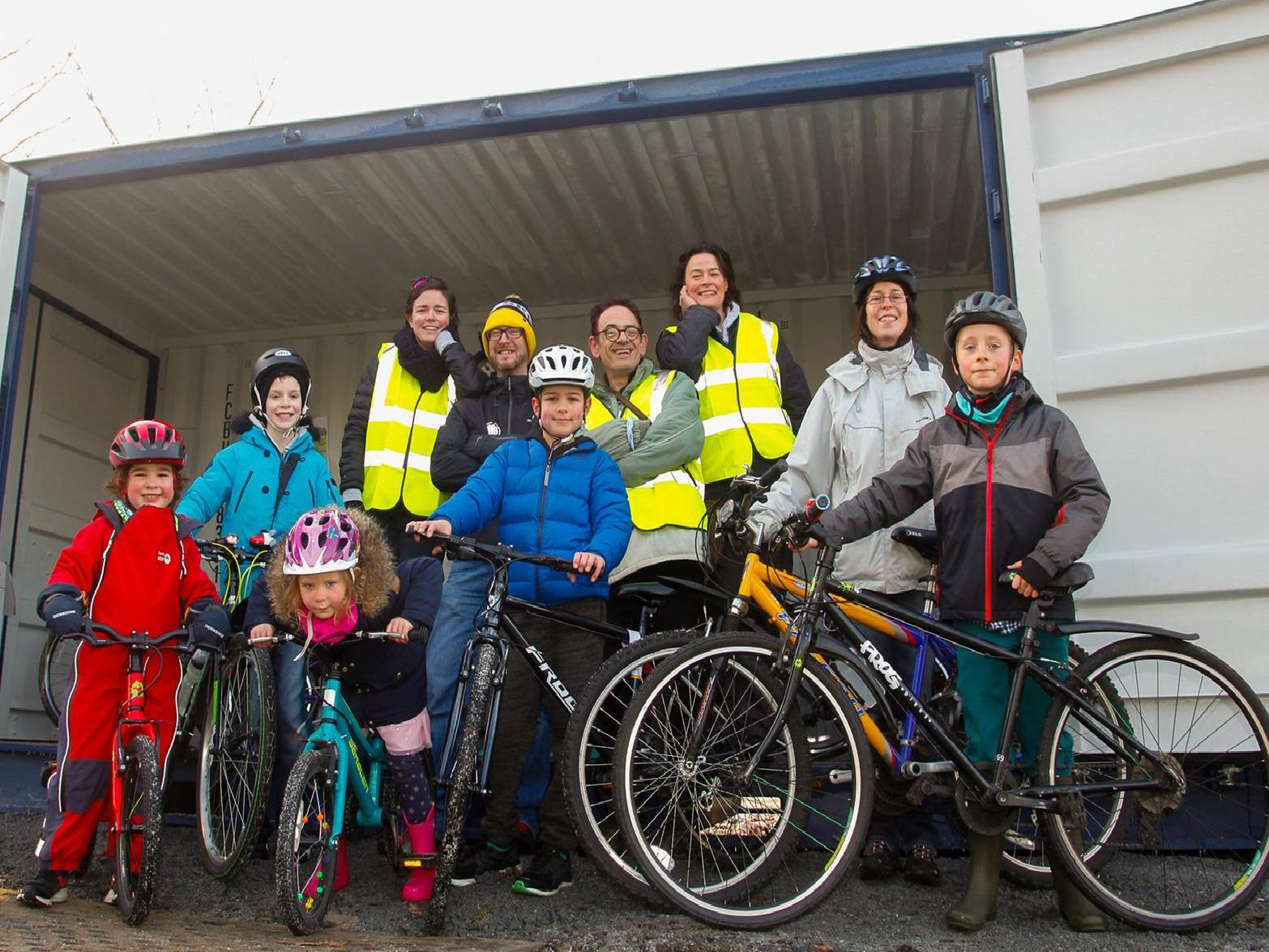 Grangemouth Bike Library launch in Zetland Park. Picture by Scott Louden.
