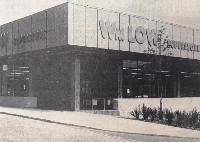 Wm Low in Kirkcaldy ahead of its 1981 opening.