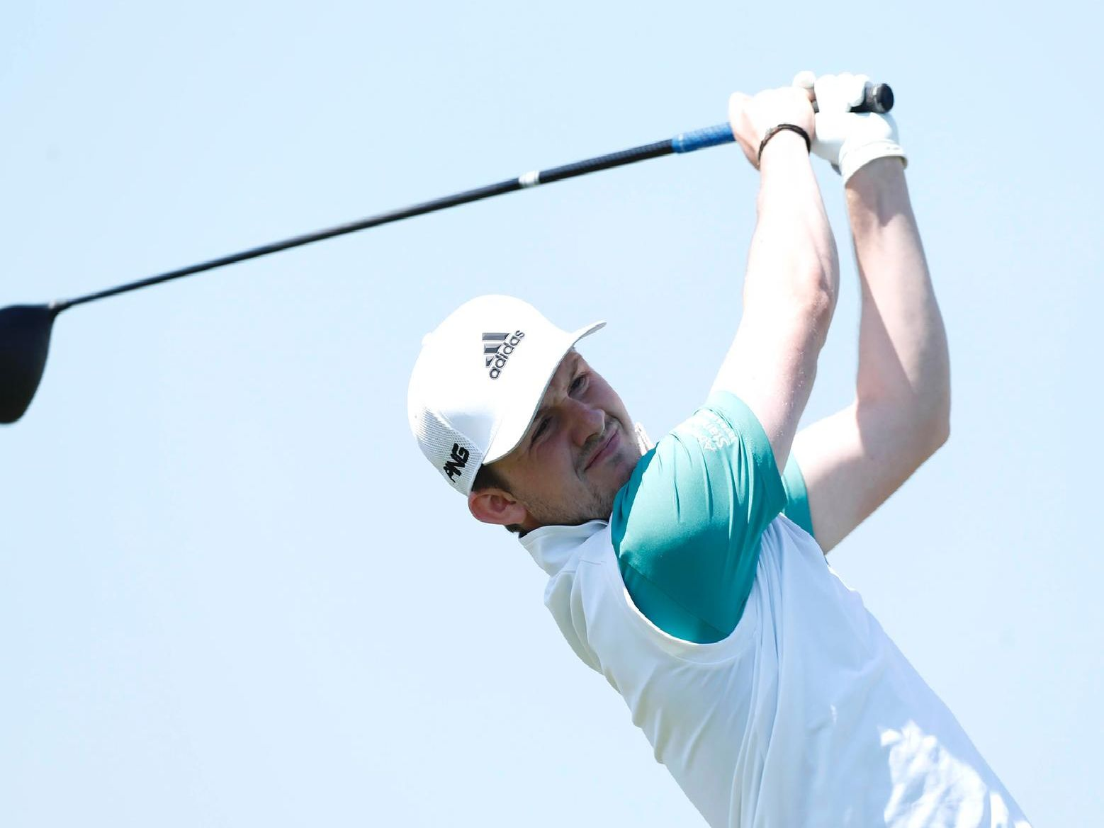 Connor Syme  tees off on the 10th hole during the first round of the Turkish Airlines Challenge at Samsun Golf Club.'Pic by Luke Walker/Getty Images