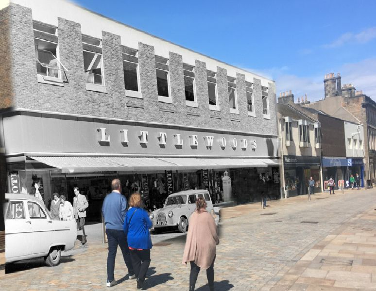 Former Littlewoods store on Kirkcaldy High Street.