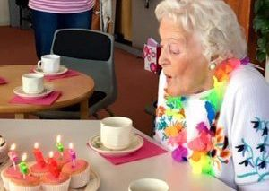 Jean enjoys her special birthday party