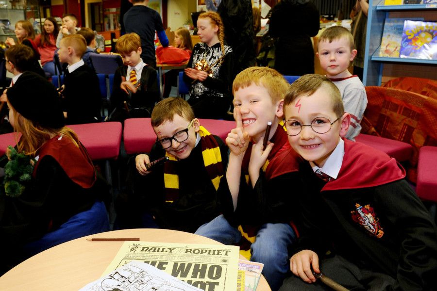 Harry Potter party night at Bo'ness Library to mark Harry Potter Book Night.