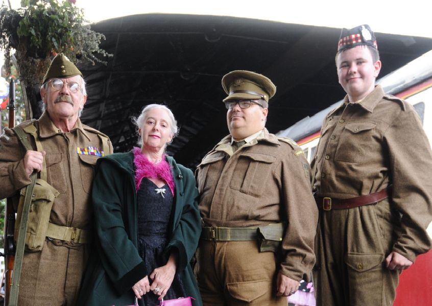 1940s and 50s Day at Bo'ness and Kinneil Railway on Saturday, August 31. Picture by Alan Murray.