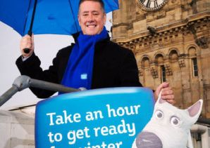 Transport Minister Keith Brown launches the Get Ready for Winter campaign