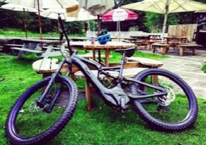 Thief smashes up wooden bench outside Kirkintilloch restaurant to steal rare valuable mountain bike