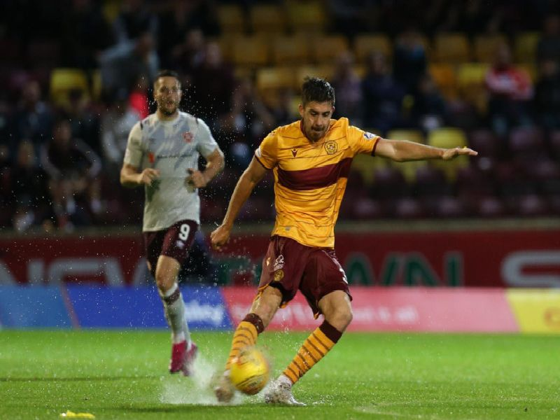 Declan Gallagher in action for Motherwell