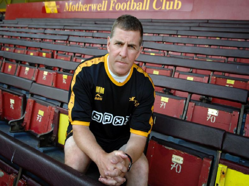 Mark McGhee is pictured shortly after becoming Motherwell manager for the first time in June 2007
