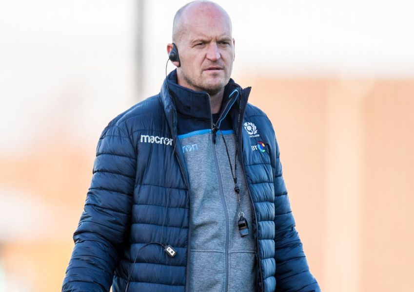 Scotland head coach Gregor Townsend leads a training session. Picture: Ross Parker/SNS/SRU