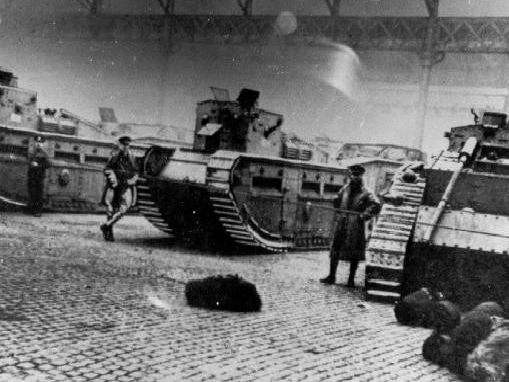 Tanks and soldiers were deployed on the streets of Glasgow 100 years ago