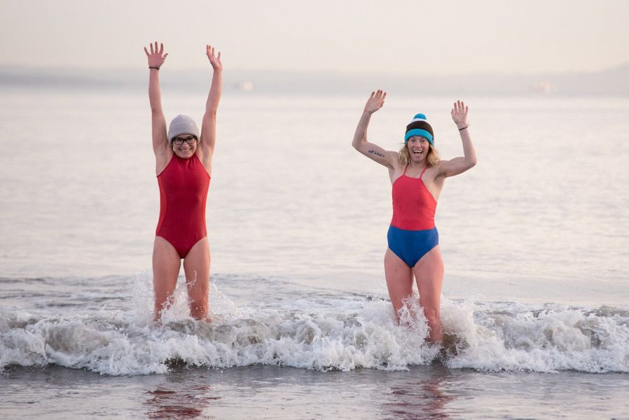 69 women took the plunge at Wardie Bay