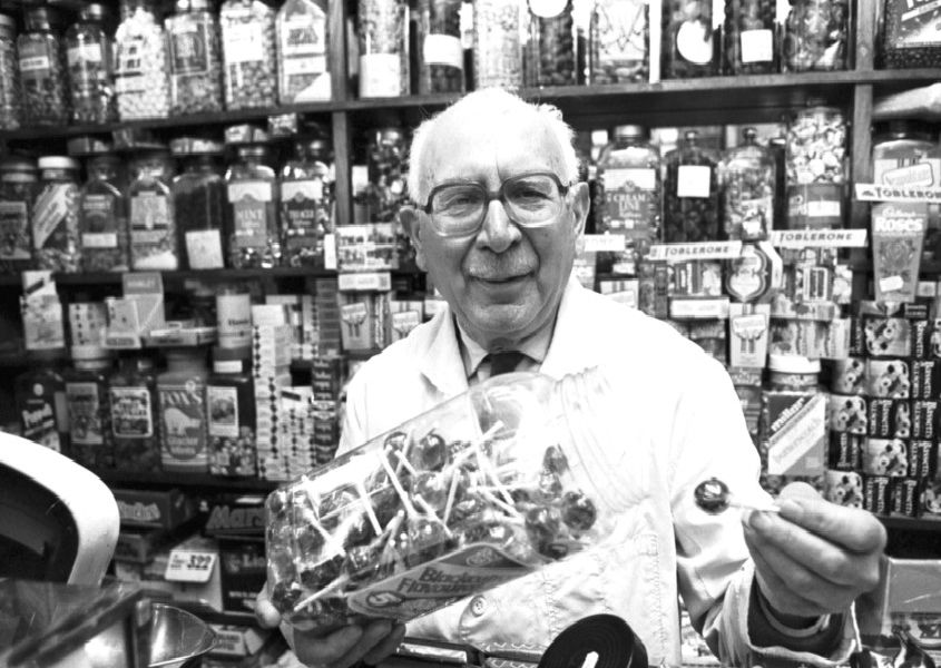 Stockbridge sweet shop owner Remo Mancini in May 1991.