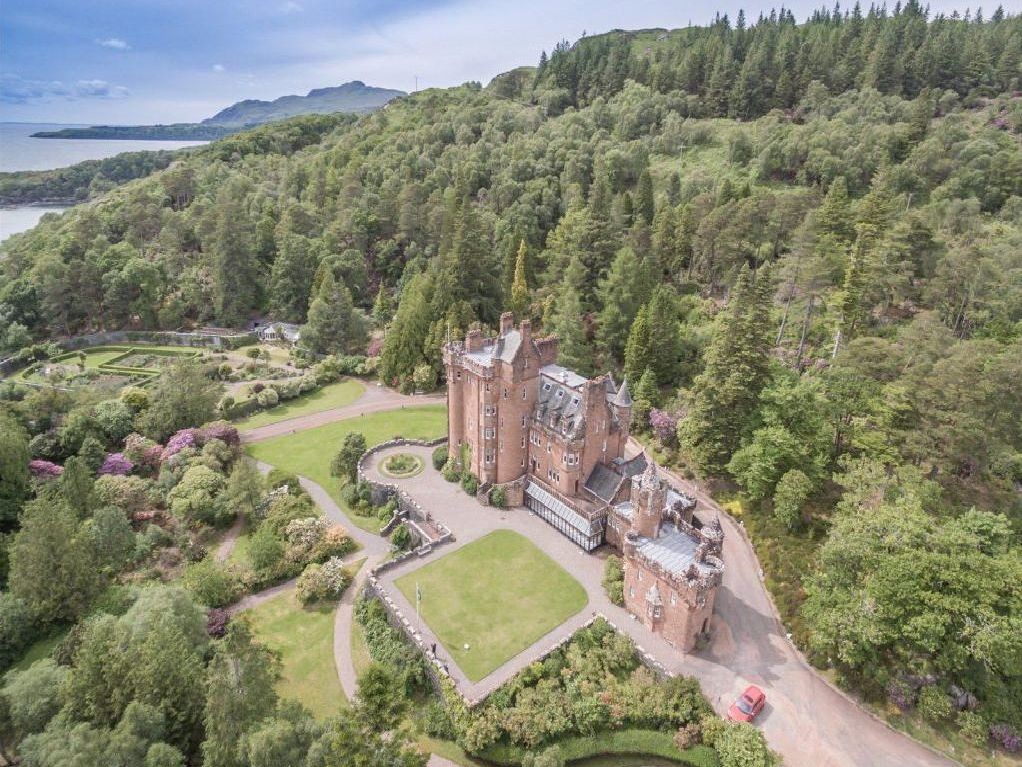 This stunning Scottish castle with private islands is still for sale - but it's offers over £3.75m