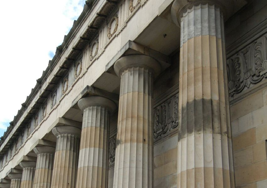 Royal Scottish Academy.'Columns, there are 68 in total