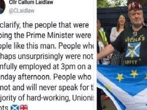 The Tweet, later deleted by Cllr Callum Laidlaw