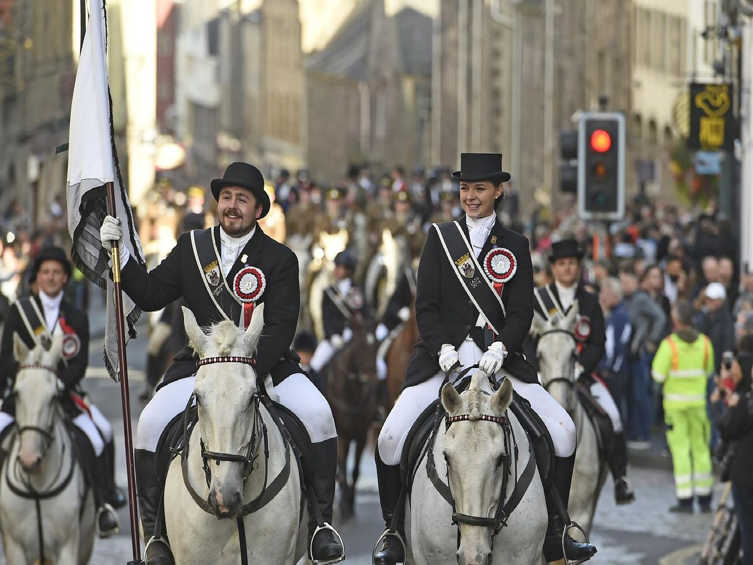 Sun shines on Edinburgh's annual Riding of the Marches
