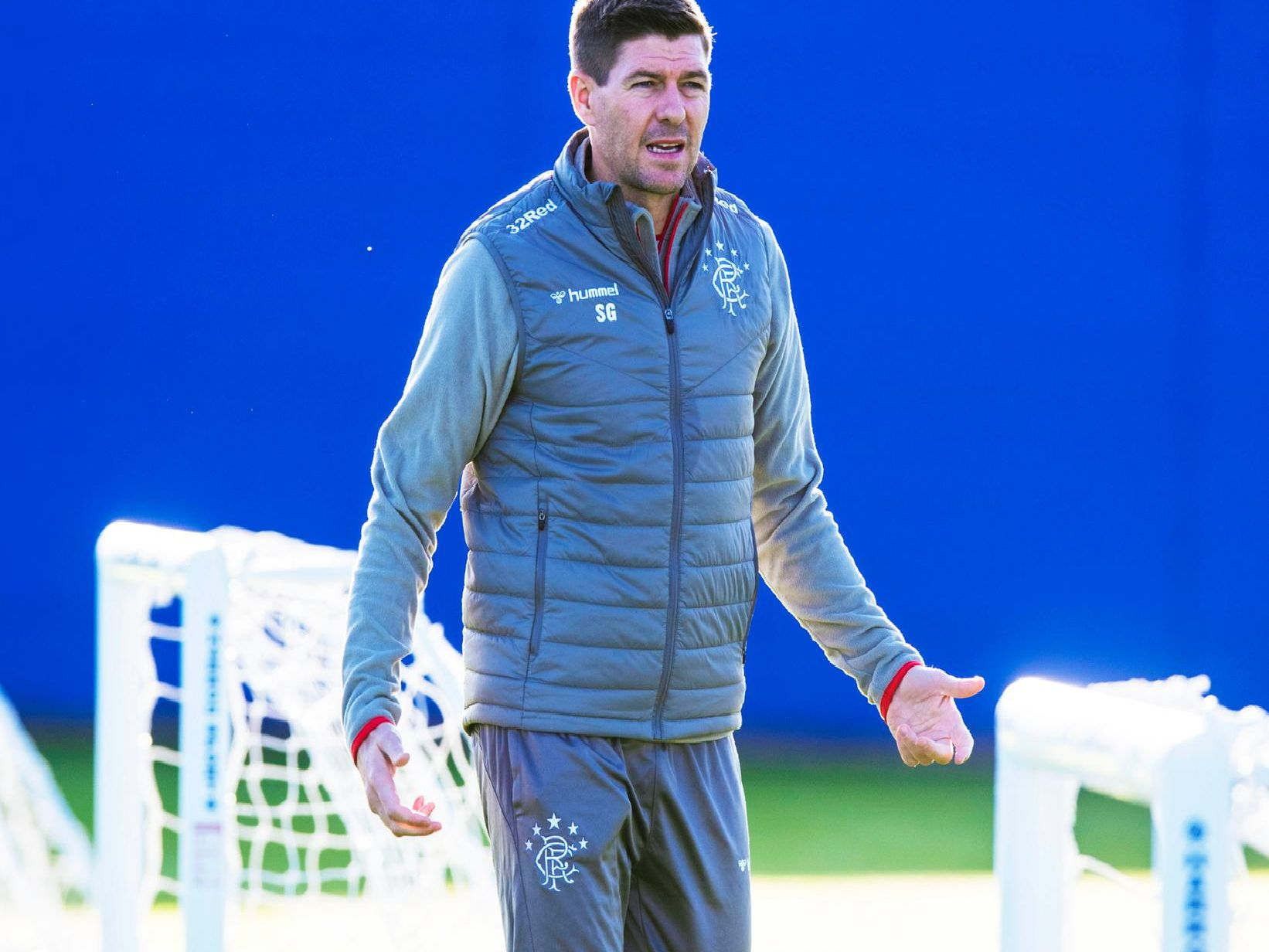 Steven Gerrard at training.