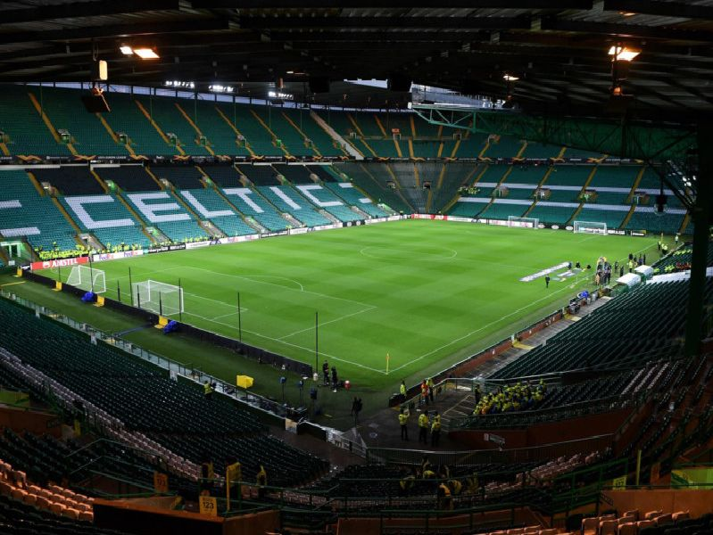 A general view of Celtic Park before the match