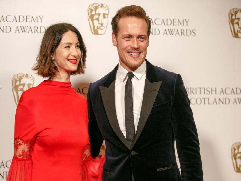 Outlander stars Sam Heughan and Caitriona Balfe hit the red carpet at the 2019 Scottish BAFTAs on Sunday 3 November. Picture: Robert Perry