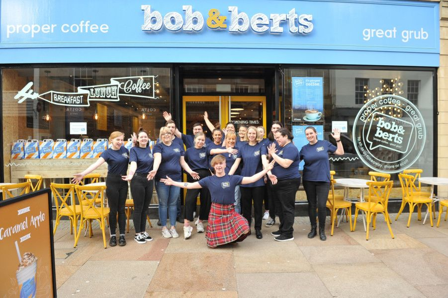 Bob and Berts coffee shop opened in Kirkcaldy High Street on November 6. Picture by George McLuskie.